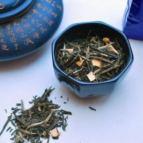 отслабване със син чай