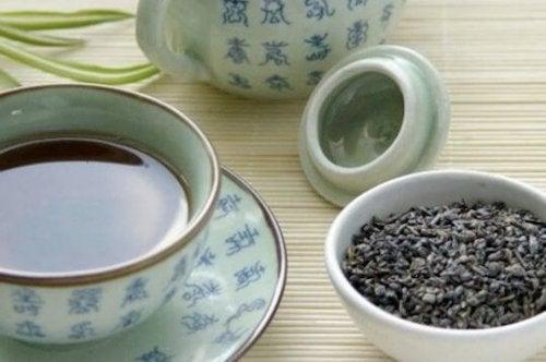 приготвяне на син чай