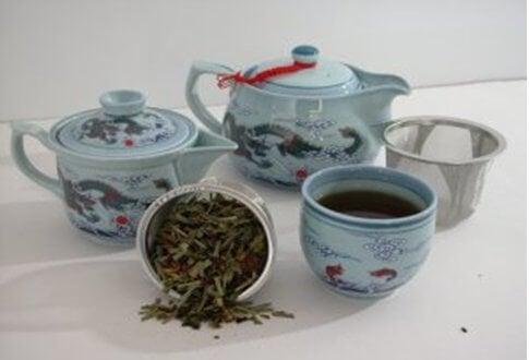 свойства на син чай