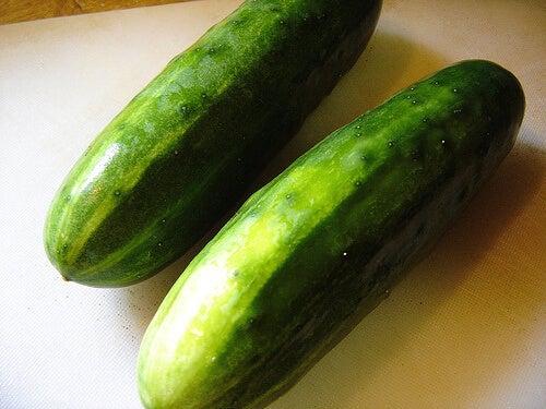 краставицата се бори с псориазиса