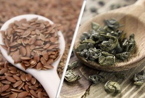 leneno seme i zelen chai feat