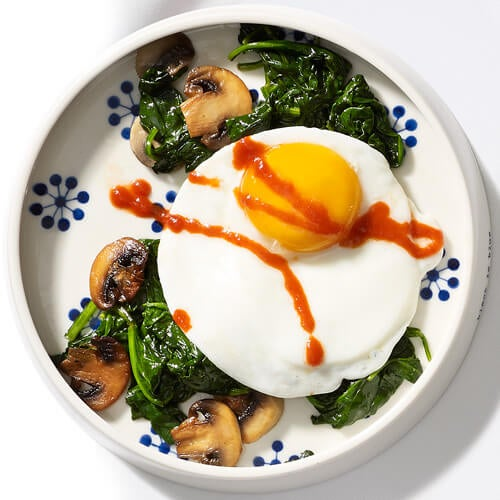 спанак с яйце за закуска