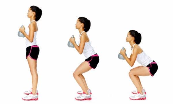 Клекове за тонизиране на седалищните мускули