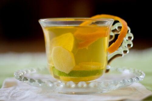 чай от джинджифил за укрепване на бронхите