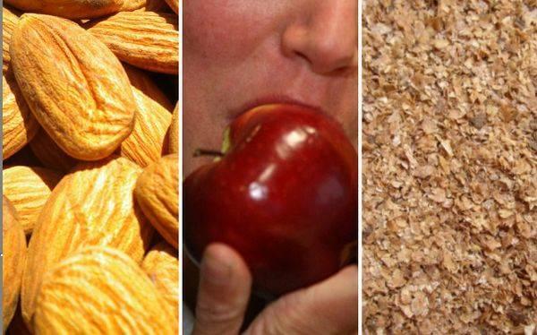 храните богати на фибри помагат при възпаление на стомаха