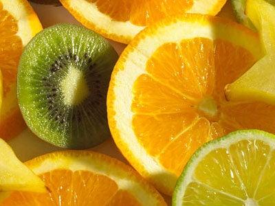 носния секрет - сок от киви и портокал