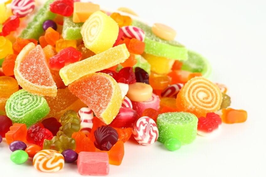Бонбоните съдържат големи количества захар, което може да увеличи риска от диабет