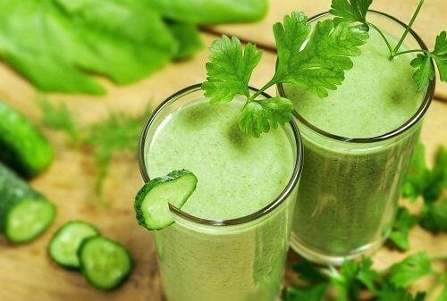 хлорофил подобрява храносмилането