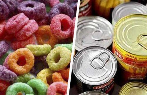 Избягвайте преработената храна, за да елиминирате тлъстините по корема