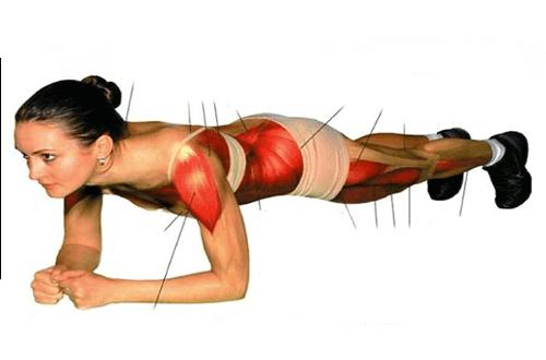 Упражнението планк развива страхотно цялото тяло