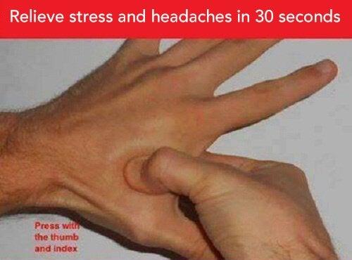 Излекувайте главоболието и стреса с акупресура