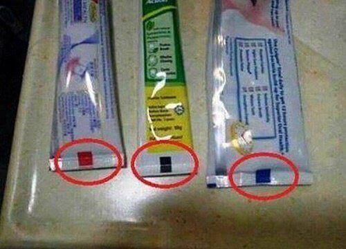 Какво наистина означава цветната маркировка на пастата за зъби?