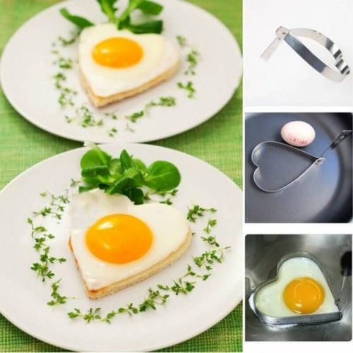 Шаблон за пържени яйца във формата на сърце
