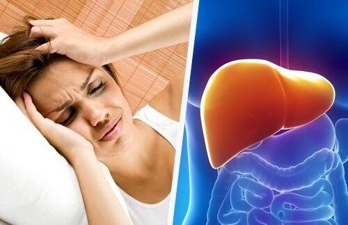 Връзката между главоболието и черния дроб