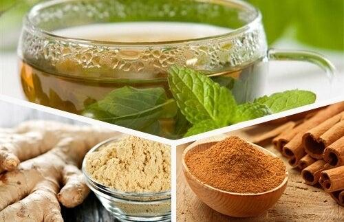 Освежаване на тялото със зелен чай, джинджифил и канела