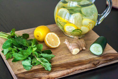 Детоксикираща и прочистваща диета с лимон, джинджифил и краставица