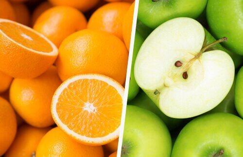 детоксикиращи напитки: сок от ябълки и портокали
