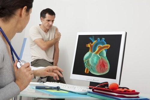 болката в различни части на тялото може да се дължи на сърдечно-съдово заболяване