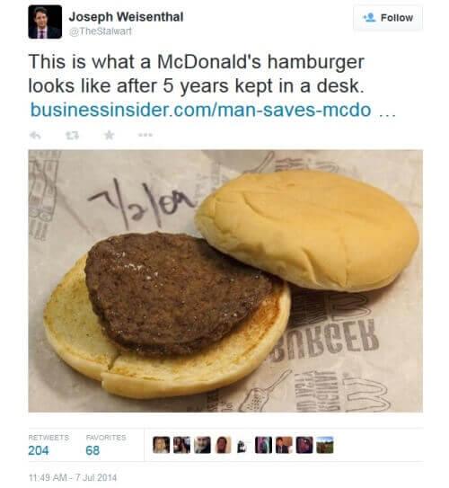 Съдържат ли вредни вещества хамбургерите Макдоналдс?