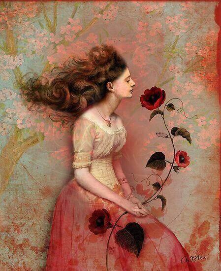 Жена-с-роза-в-ръката