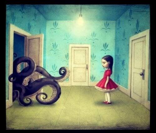 момиче-гледащо-към-октопод-представя-лошите-хора