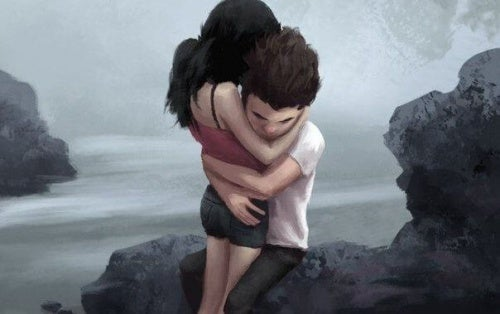 Успокояване на страховете с прегръдка