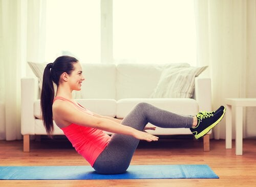 упражнения срещу мазнините на корема