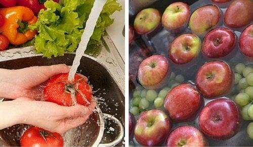 Как да измиете пестицидите от плодовете и зеленчуците