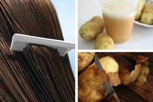 Вода от картофени обелки за укрепването на косата