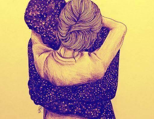Прегръдката, най-доброто лекарство за душата