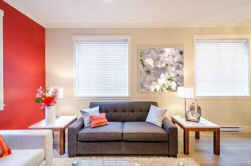 грижете се за всекидневната стая за дом без алергии