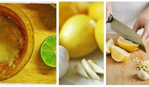 Домашно лечебно средство против коремни мазнини от чесън с лимон