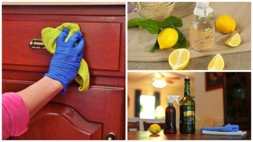 Домашен почистващ продукт за премахване на прах от мебелите