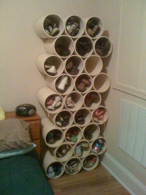 Изработване на PVC стелажи за обувки