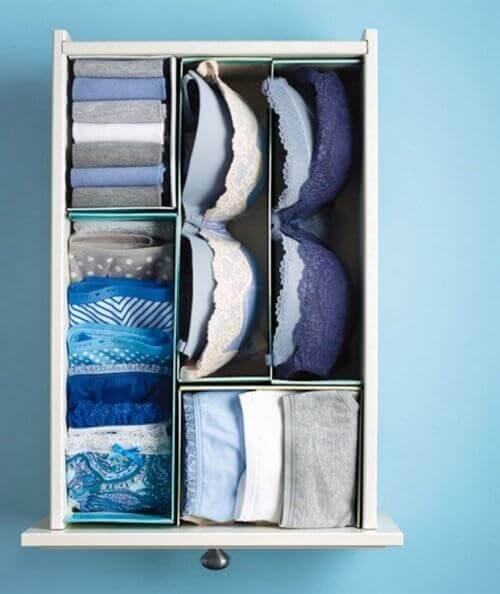 Повторна употреба на дървени кутии в гардероба