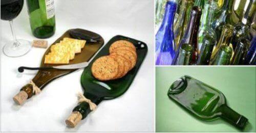 Направи си сам: Уникална плата за закуски от стъклени бутилки