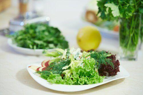 листата на зелената салата увяхват, ако се съхраняват във фризер