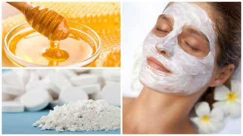 Как да направим маска за лице от мед и аспирин