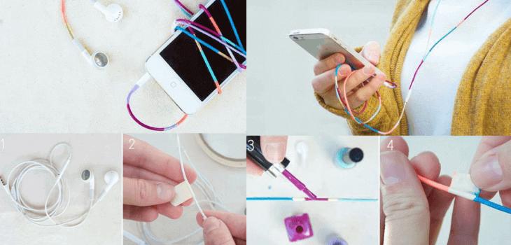 Украса на кабелите с лака за нокти