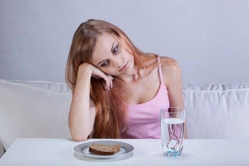 загуба на апетит - физическо отражение на тъгата върху тялото