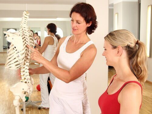 гръбначният стълб и органите