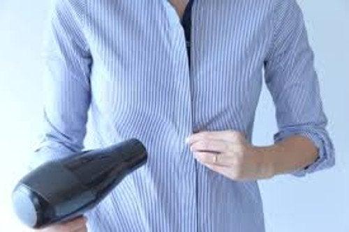 Използвайте сешоар за малките дрехи