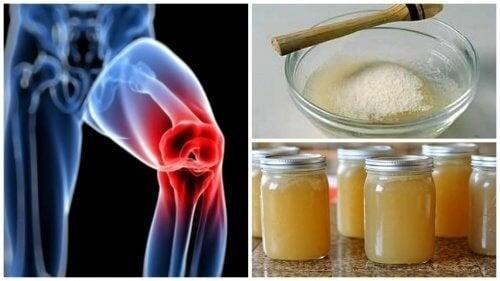 Лечебни средства с желатин за успокояване на болките в ставите