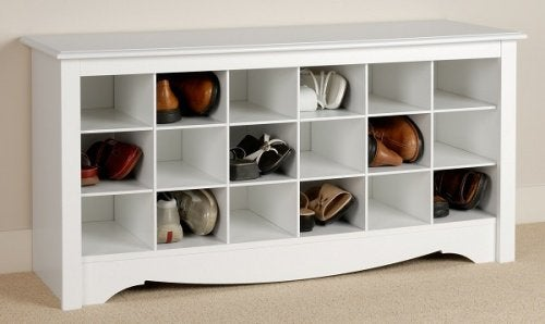 Рафт с отделни кутии за организиране на обувките