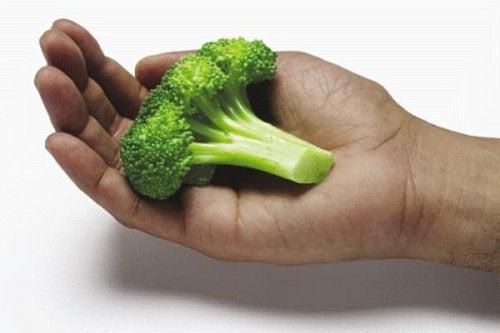 мерете хранителните си порции с ръце