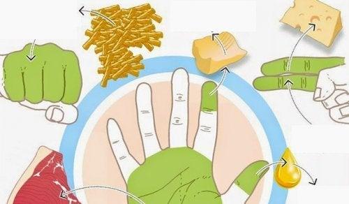 Използвайте ръцете си, за да измервате хранителните порции