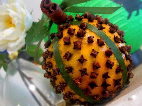 карамфил и портокал като средство срещу мухите