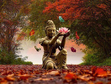 Буда се е разхождал в гората, за да си почине