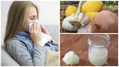 Лекувайте кашлицата, алергиите и грипа с лук