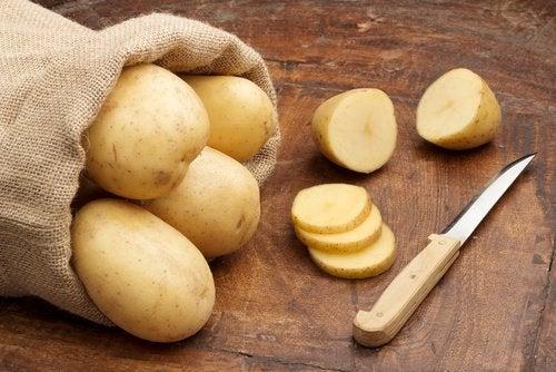 картофи срещу белезите